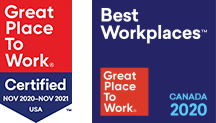 Great Place to Work certified logos