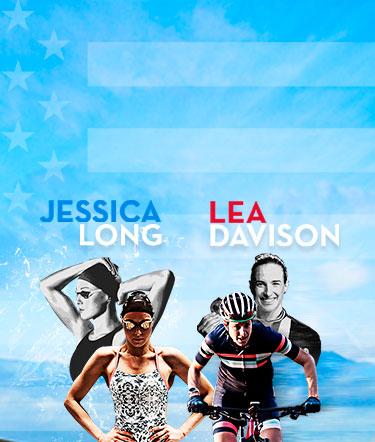 Jessica Long, Lea Davison